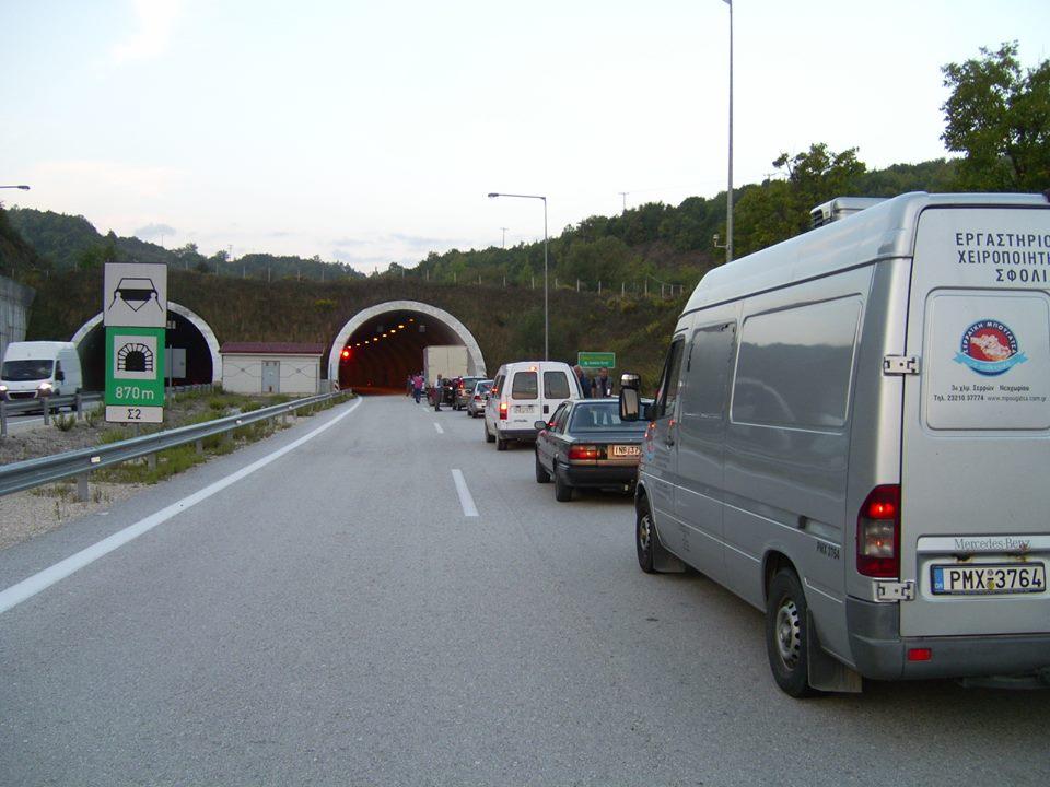 Ανατράπηκε όχημα στην Εγνατία Οδό
