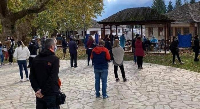 Μαζική προσέλευση για τεστ στο Μέτσοβο