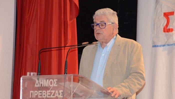 Πρέβεζα: Θλίψη για τον πρώην συντονιστή του ΣΥΡΙΖΑ