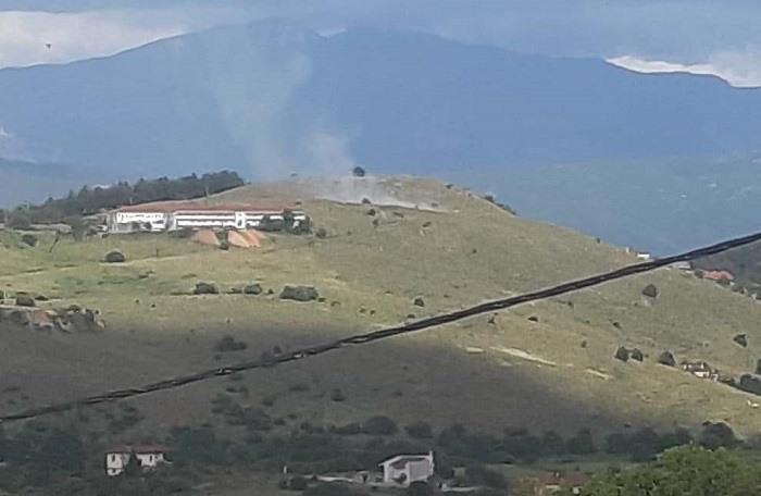 Φωτιά κοντά στο Άσυλο Ανιάτων