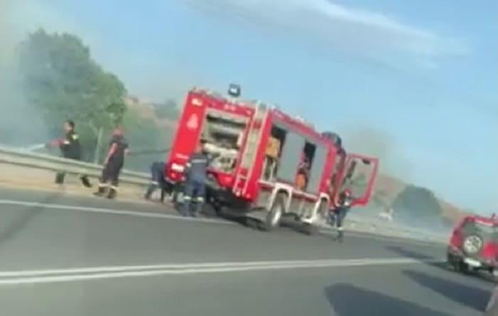Άμεση κινητοποίηση για φωτιά στην Περιφερειακή