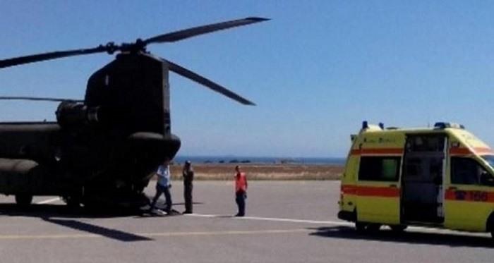 Αεροδιακομιδή στα Γιάννινα σοβαρά τραυματισμένου αστυνομικού